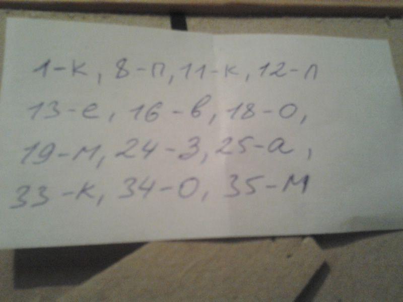 Шифровка в записке квеста